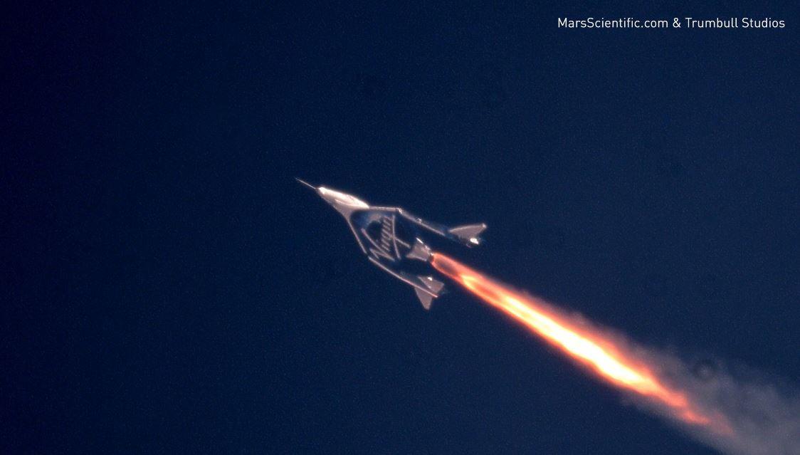Впервый раз испытатели натуристическом космическом корабле преодолели скорость в2 Маха
