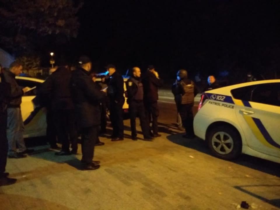 Вцентре столицы Украины ранили патрульного
