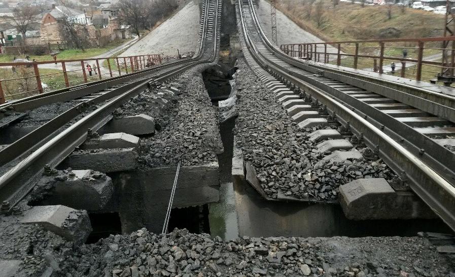 На железной дороге в Донецкой области произошел взрыв. Движение поездов закрыто, - МВД - Цензор.НЕТ 7739