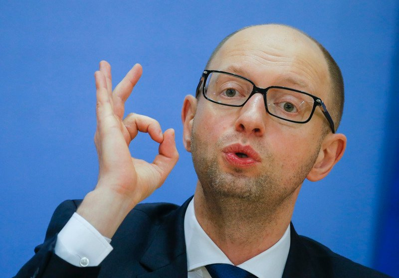Яценюк Ukrainian PM Arseniy Yatsenyuk press conference in Kiev.