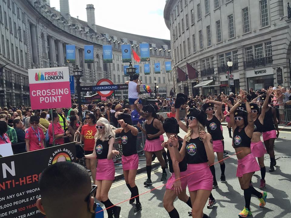 The 1985 london gay pride parade, as seen in pride (cbs films)