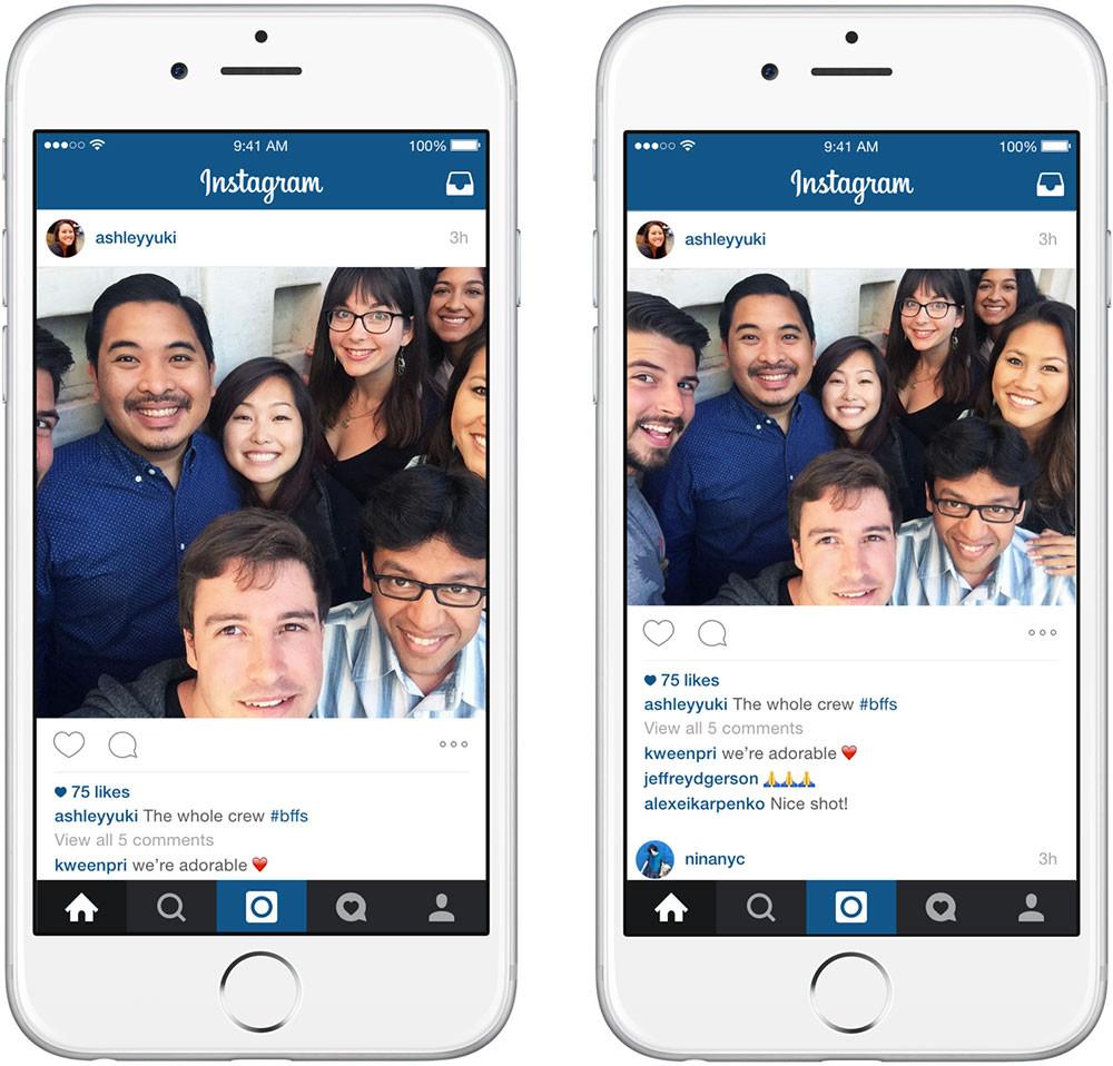 Социальная сеть Instagram позволил грузить новые форматы фото ивидео